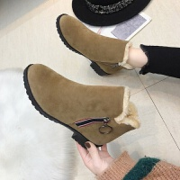 雪地靴女2019新款韩版百搭棉鞋短筒靴学生加厚加绒保暖滑短靴