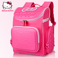 Hello Kitty凯蒂猫 KT1003玫红 可爱女童护脊双肩贵族书包礼品装 当当自营