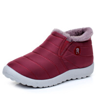 冬季女士水短棉鞋老北京布鞋女鞋加绒保暖休闲鞋加厚滑妈妈