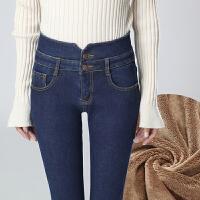 安妮纯冬装女牛仔裤女长裤修身高腰小脚2020新款韩版显瘦