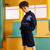 【3件2折:119元】小虎宝儿男童套装网红2021春装款儿童装运动套装中大童潮