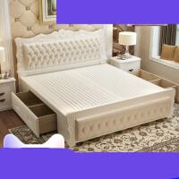 主卧现代简约公主床1.8米实木婚床1.5m简欧卧室欧式床双人床 +10cm乳胶床垫