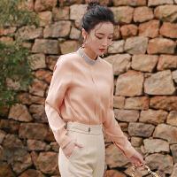 2019秋季新款女装韩版心机上衣设计感小众气质衬衣洋气女神范衬衫