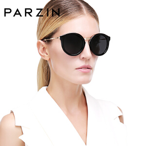 帕森时尚偏光太阳镜 女士复古圆框潮墨镜司机开车驾驶镜9522