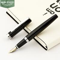 HERO英雄钢笔382美工笔弯头笔成人商务办公学生书写练字用硬笔书法笔艺术手绘钢笔*定制logo免费刻字