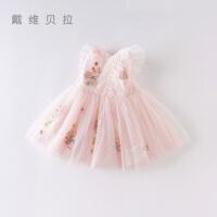 davebella戴维贝拉夏季女童连衣裙宝宝公主裙子DBM14099