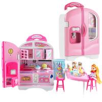 爱莎公主 儿童小伶玩具女孩甜心手提包屋爱莎公主城堡过家家女童生日礼物36