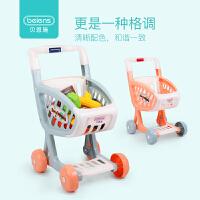 贝恩施儿童购物车玩具女孩 超市推车过家家宝宝迷你厨房玩具套装