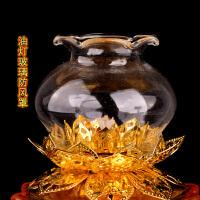 佛具用品供佛油灯防风玻璃灯罩透明玻璃罩烛台罩佛教寺庙用品灯罩