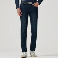 七匹狼牛仔裤青年男士时尚商务休闲牛仔裤长裤