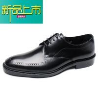 新品上市欧美复古男鞋固异手工鞋意大利真皮男士商务正装皮鞋英伦德比鞋