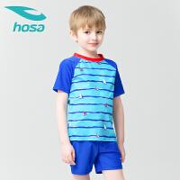 hosa浩沙儿童泳衣分体两件套 男童中大童新款 可爱游泳衣泳裤