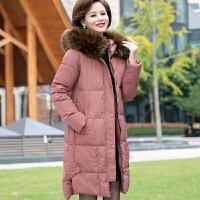 中老年棉衣女中长款加厚中年女棉袄洋气妈妈冬装外套羽绒新款