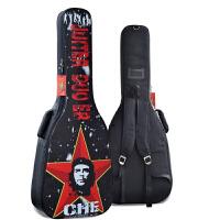 彩绘古典民谣吉他包防水加厚3640/41/42寸袋加棉双肩电吉它贝斯袋