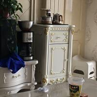 欧式实木家用自动茶水柜餐边柜办公室智能茶吧机温热立体式饮水机 0.52*0.45米象牙白/配自动茶炉 全实木雕花 单门