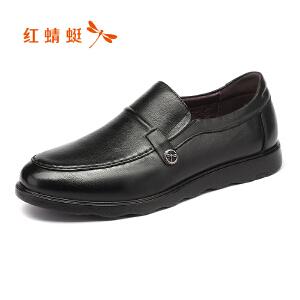 红蜻蜓男鞋商务休闲皮鞋秋冬鞋子男WTA7346