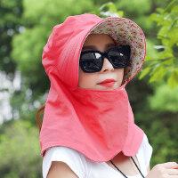女士遮阳防晒骑车帽子户外运动 遮脸折叠电动车大沿太阳帽