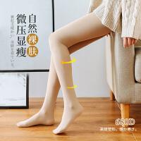 680D压力瘦腿连裤袜秋冬光腿裸肤日系美腿塑形连脚踩脚打底裤
