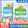 阳光同学暑假衔接五升六年级语文数学人教版2021新版小学生暑假作业本5升6年级