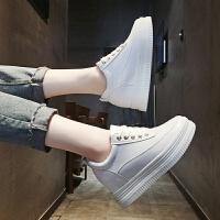 内增高小白鞋女2018夏冬季新品韩版百搭松糕厚底单鞋女休闲板鞋