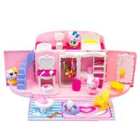 儿童过家家厨房玩具手提包屋KT猫别墅浴室公主套装女孩生日礼物c
