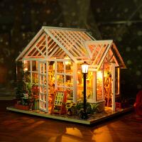 拼装玩具生日礼物diy小屋别墅艺术屋手工制作房子模型
