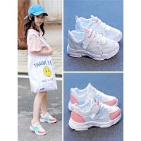女童鞋子2019新款夏季透气网面幼儿园女孩小白鞋儿童单网鞋运动鞋