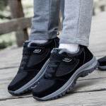 爸爸鞋冬季加绒保暖休闲鞋中老年运动鞋滑健步软底老人棉鞋男