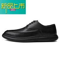 新品上市19冬季新款男士商务正装潮流工作加绒青年韩版软底休闲皮鞋