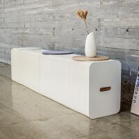 简约现代创意长凳 北欧家具凳时尚家用餐桌凳白色凳长条凳小户型空间