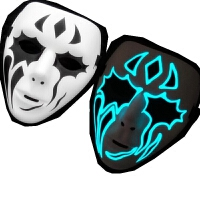 面具恐怖 万圣节化妆舞会手绘色鬼步舞面具男街舞面具恐怖面具鬼舞步面具