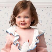 davebella戴维贝拉2020春新款女童T恤宝宝洋气卡通套头衫DBW13078