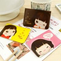 韩国女士卡片包可爱卡通卡包12卡位卡夹PU仿皮妞子卡包