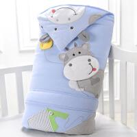 婴儿抱被抱毯冬厚宝宝包巾被子用品新生儿抱被秋冬季包被可脱胆