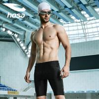 hosa浩沙专业游泳裤男士五分平角泳裤温泉裤 高弹大码游泳衣装备