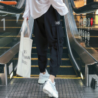 【秋冬新品】高端专柜品牌男士长裤子夏季韩版束脚哈伦裤潮流休闲潮牌薄款