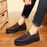 老北京布鞋男士棉鞋冬季中老年老人软底防滑爸爸加绒保暖中年男鞋