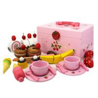 木制磁性切水果玩具 切切乐 水果蔬菜切切看儿童过家家玩具