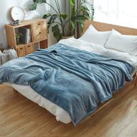 冬季拉舍尔毛毯被子珊瑚绒法兰绒床单毯子办公室午睡沙发毯盖毯绒k