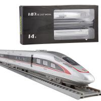 仿合金火车模型1:87复兴号和谐动车组高铁语音儿童玩具礼物摆件