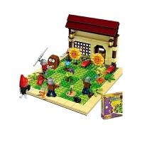 植物大战2玩具花园战争僵尸家族积木拼装男孩6-10岁