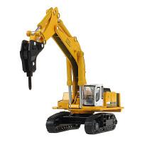 凯迪威合金车1:87钻打机履带车工程车模型儿童玩具钻地破碎机 625016