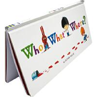【全店满300减100】英文原版 Who What Where? 是谁呢? 精装 情境式探索+推理+找找书 锻炼观察力