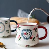 可爱陶瓷杯子水杯马克杯女创意个性潮流情侣家用喝水办公室咖啡杯