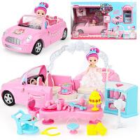 玩具女孩公主娃娃婚车套装大礼盒别墅城堡儿童手提包生日礼物