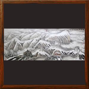 2.4米《北国风光万里雪飘》李群臣 山东美协会员 东方雪景画创始人R2945