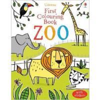 [现货]英文原版 Zoo 涂色动物园 Usborne幼儿亲子涂色书系列