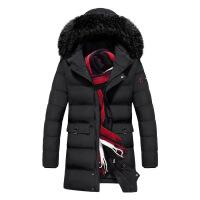 中长款男冬季加厚保暖男士外套加肥加大码服潮胖子冬装