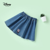 【2件3折价:60.9】迪士尼宝宝女童牛仔短裙快乐星球梭织裙子夏季新品