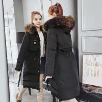新年特惠棉衣中长款女士棉袄女装冬装新款羽女中长款冬季显瘦两面穿韩版大毛领棉袄 M 建议90-108